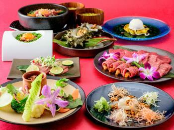 【Annex1周年記念】最上階~琉球BBQ「Blue」で味わうスペシャルディナー(ご滞在期間中1回)ブッフェ朝食