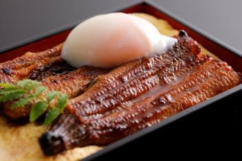 【こだわり料理-1泊2食】国産うなぎを使用 鰻玉重御膳!スタッフが食べたいもの作ちゃいました