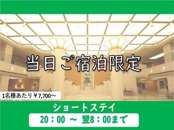 【当日限定】ショートステイプラン☆20時チェックイン&翌8時チェックアウト《素泊り》