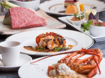 【夕食・朝食付】秋の収穫祭 !伊勢海老と宮崎牛の鉄板焼き
