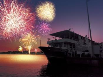 ≪夏の夕涼み≫花火を湖上で楽しめる!納涼船花火クルージングお手軽会席プラン【3大特典付】