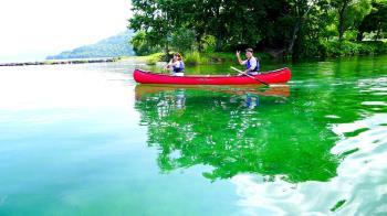 大自然・洞爺湖カヌー体験!湖面に立つゼロポイントで非日常体験