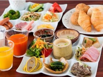 【熊本の食材を使ったバイキング】おいしく・しっかり・朝ごはん付
