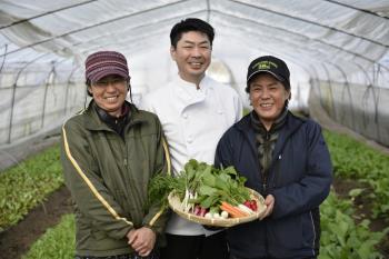 契約農家から届く無農薬野菜を使用した森のフレンチディナー付きプラン(一泊二食付)