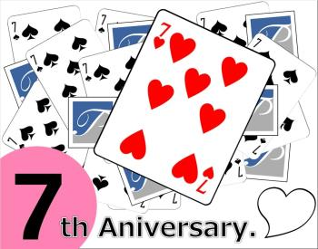 【Anniversary】おかげさまで7周年★感謝!感謝!のラッキープレゼント付き。
