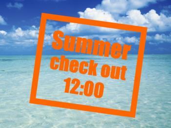【Summer カップル】夏の二人旅は12時チェックアウトで決まり♪