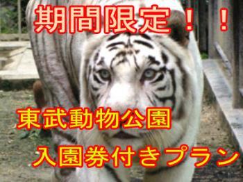 【夏季限定!!東武動物公園 入園券付プラン】チケット持って並ばず入園♪