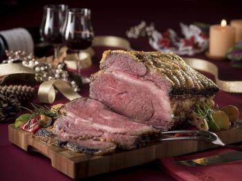 【森と湖のリゾートブッフェXmas】1ドリンク付★道産牛のローストビーフなどで大満足のクリスマス