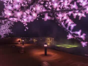 【春薫る天空ガーデンスパ】柔らかな桜の灯りのなかでくつろぐ至福のスパタイム