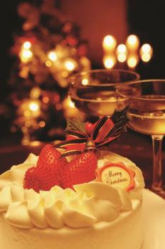 【期間限定】X'masプラン☆クリスマスケーキwith4大特典☆【カップル、友人同士にオススメ♪】