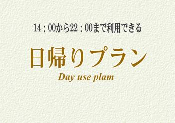 【デイユース(日帰り)プラン】14:00~22:00(チェックイン20:00まで)★最大8時間利用可能!☆Wi-Fi完備!全客室禁煙!