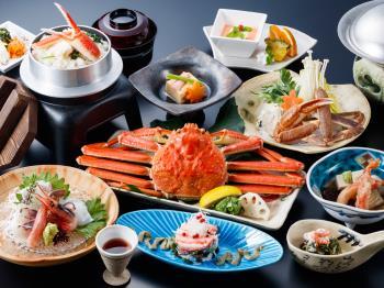 <Go To トラベルキャンペーン割引対象>【かに会席】まるごと一杯蟹の姿盛りなどかに料理満喫「デラックス蟹会席 雪の舞」