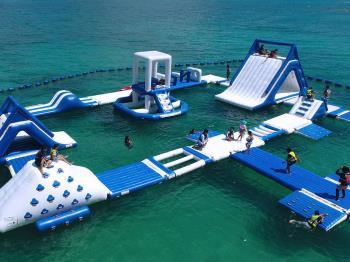 【アクアパーク利用券付】「喜瀬ビーチ 海上アスレチックパーク」で沖縄の海を満喫!♪(食事なし)