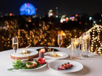 【部屋食】夜景を眺めながらお部屋でゆったりと「インルームダイニング」×「洋食コース」プラン(2食付)