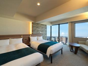 ■1日1室限定■最上階17階デラックスツインルームプラン【素泊り】