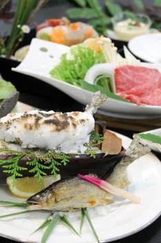 【川湯みどりや】熊野の旬の食事と熊野産鮎の塩焼き会席プラン