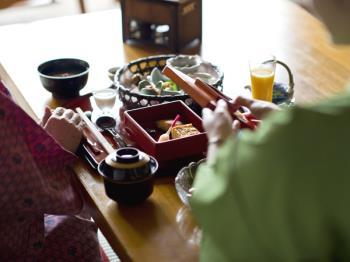 【基本プラン~お部屋食】<br>お部屋で愉しむ金谷流懐石~和敬洋讃~<br>■1泊2食プランイメージ