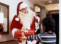 サンタクロースがプレゼントをお届け♪<br>(イメージ)