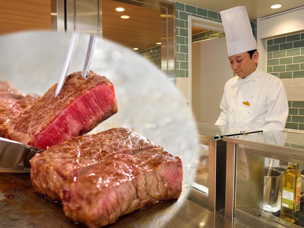 できたて熱々のステーキを召し上がれ♪