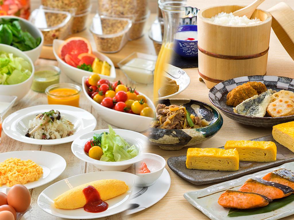 朝食は、洋食和食お好きな会場をお選びいただけます。