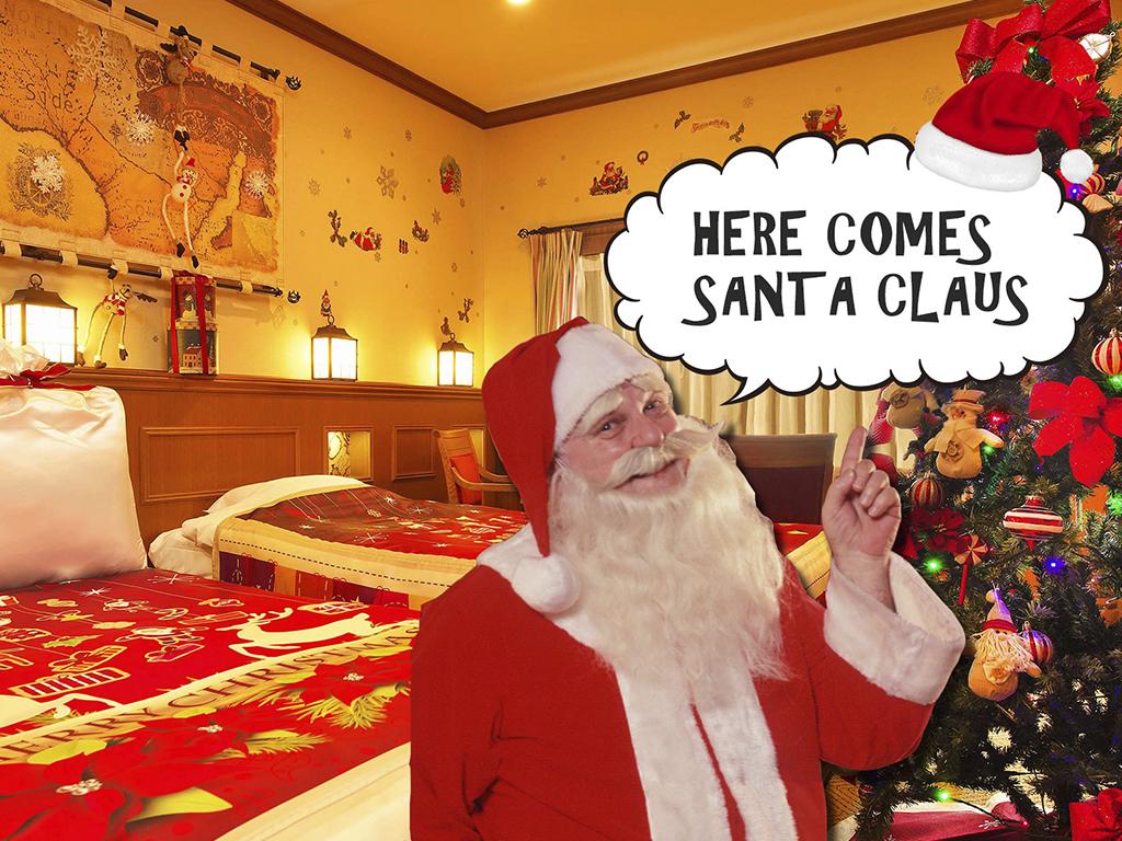 クリスマスルームにサンタクロースがやってくる♪