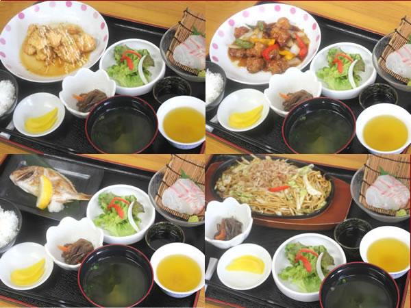 【日替わり夕定食一例】 苦手な食材がございましたら事前にご連絡下さい。