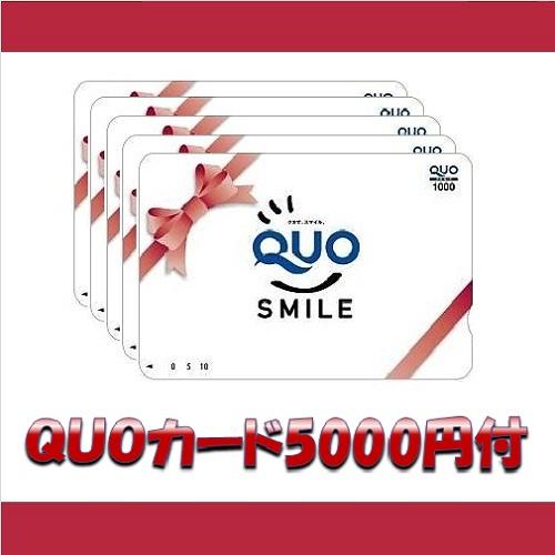 QUOカード5000円分付☆