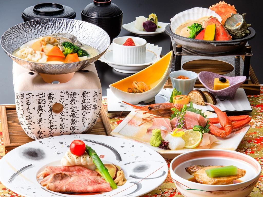 料理長厳選のメニューをお楽しみください(2019/7/1〜9/10メニュー一例・イメージ)