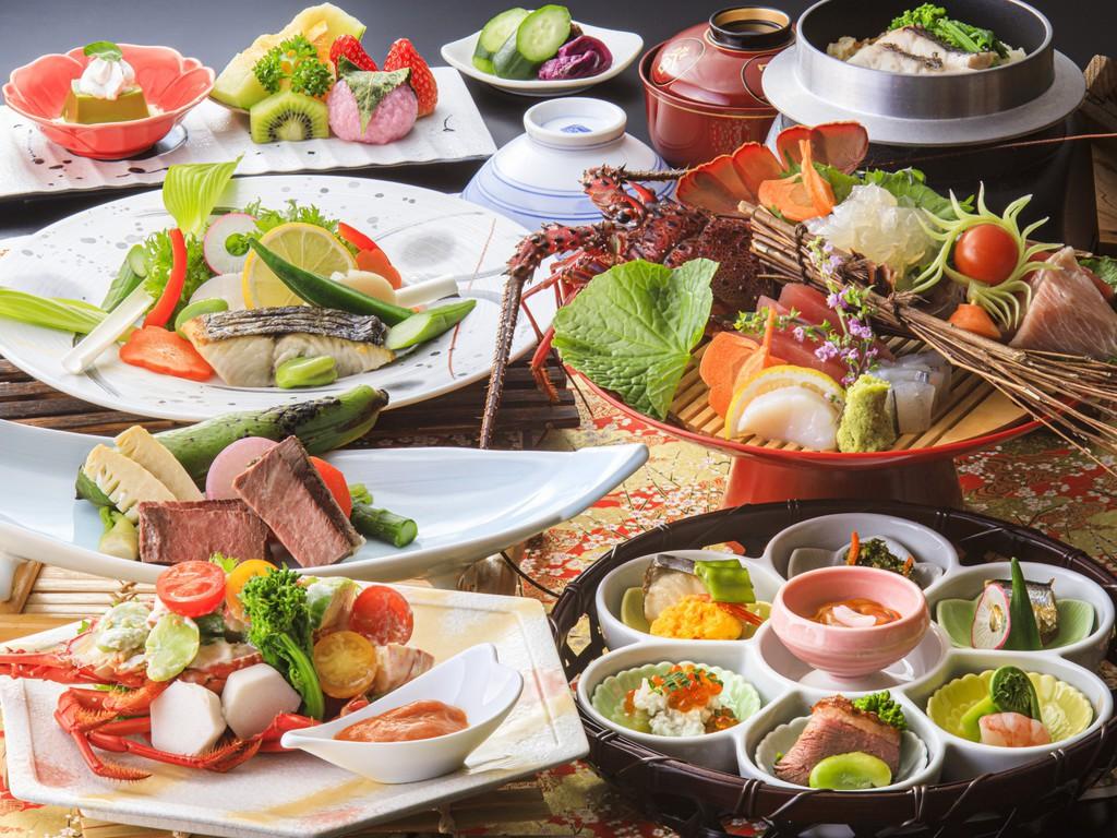 和食会席・特選コース お料理の内容は季節ごとに変わります。(4/15〜6/30のメニュー一例・イメージ)