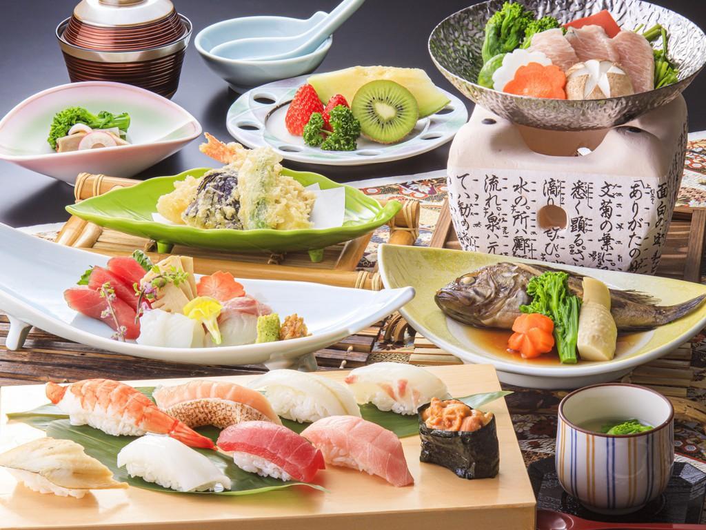 握り寿司だけでなく天ぷらや煮魚も(2020/2/1-4/14メニュー一例・イメージ)。