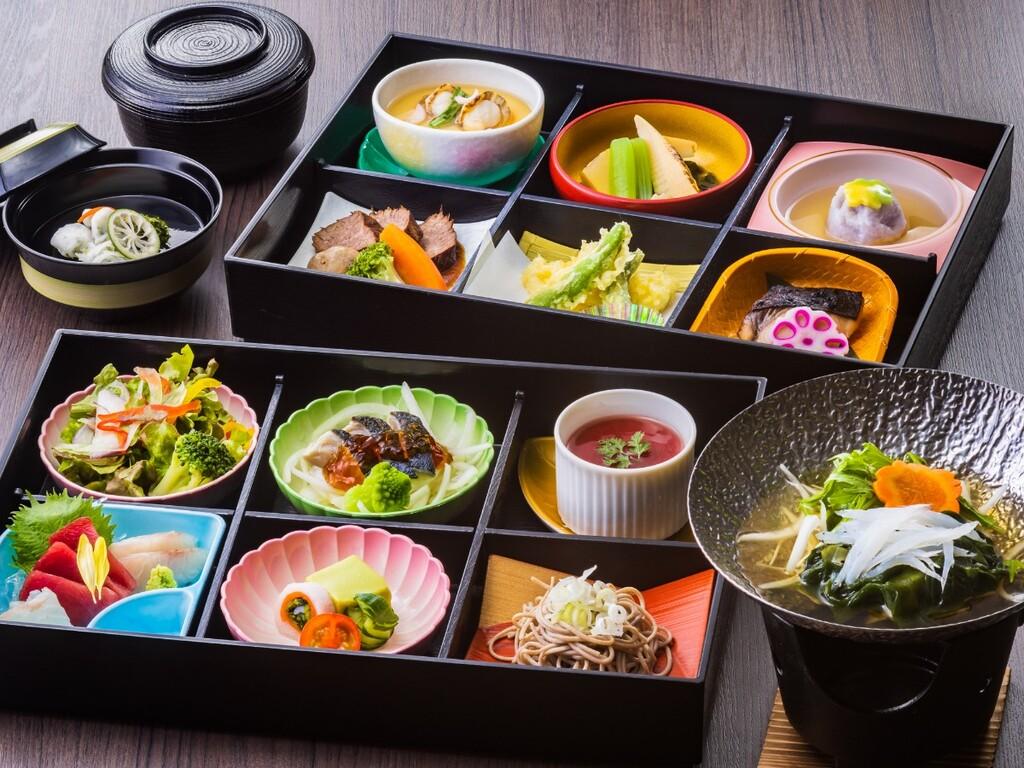 夕食「松花堂」イメージ(実際のお料理・食器とは異なる場合があります)