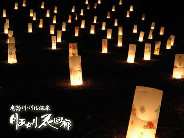 「月あかり花回廊」の壮大なライトアップは年に1度だけの圧巻のアートフェスティバルです。