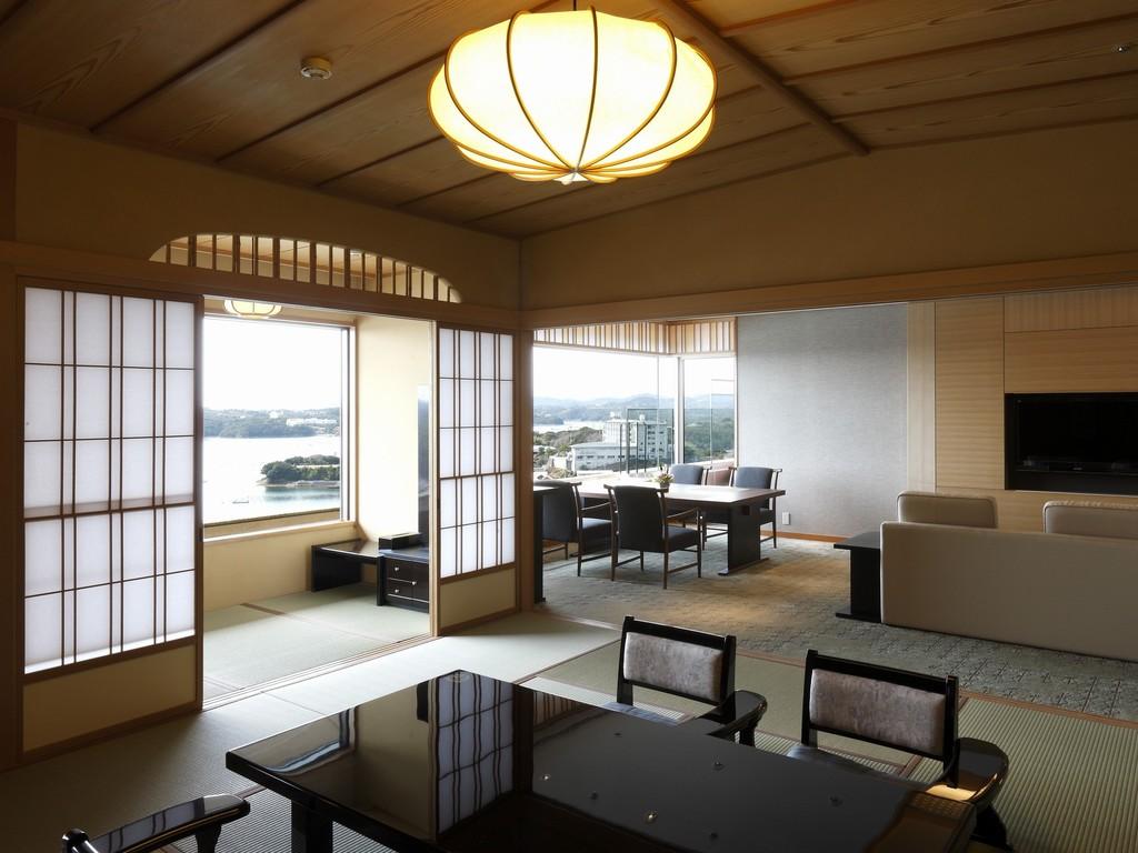 貴賓室『鳳凰』 和室12.5+ツインベッドスペース+ダイニングを備えるゆとりの空間