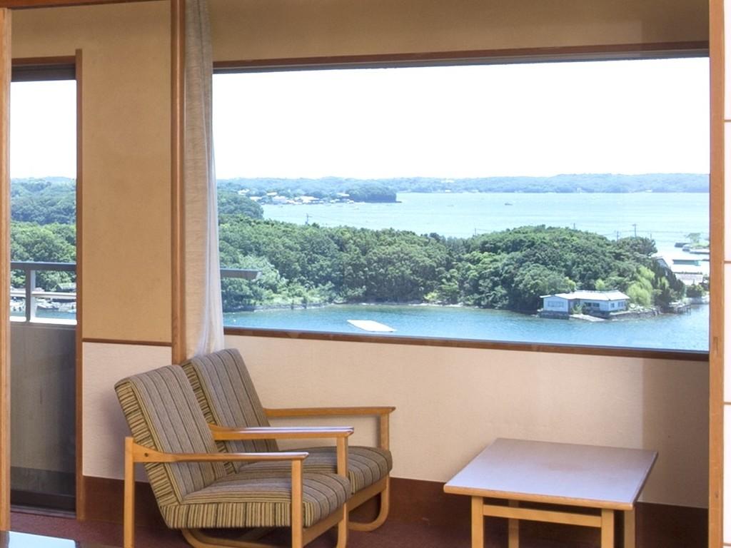 華陽棟のお部屋からの眺め(一例)