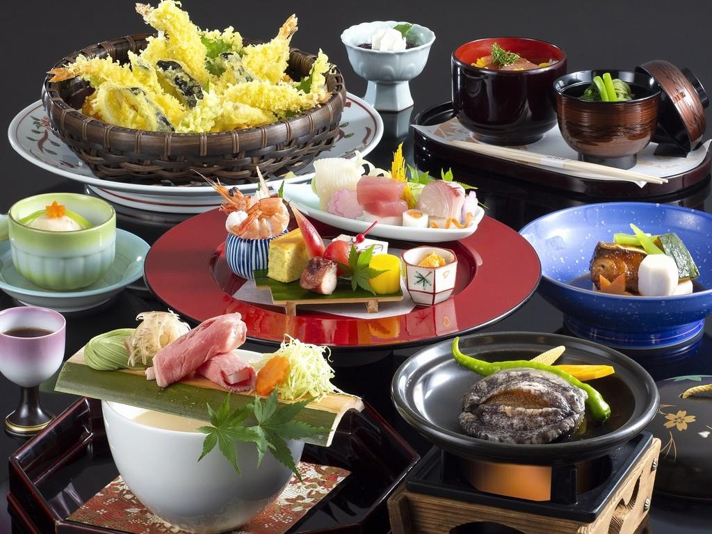 「おまかせ会席」料理イメージ(2019年4月〜2019年9月)※「天婦羅」は4名様盛りのイメージです。