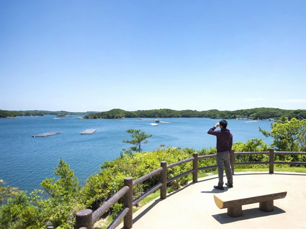 見晴らし休憩所からの英虞湾の風景は絶景♪