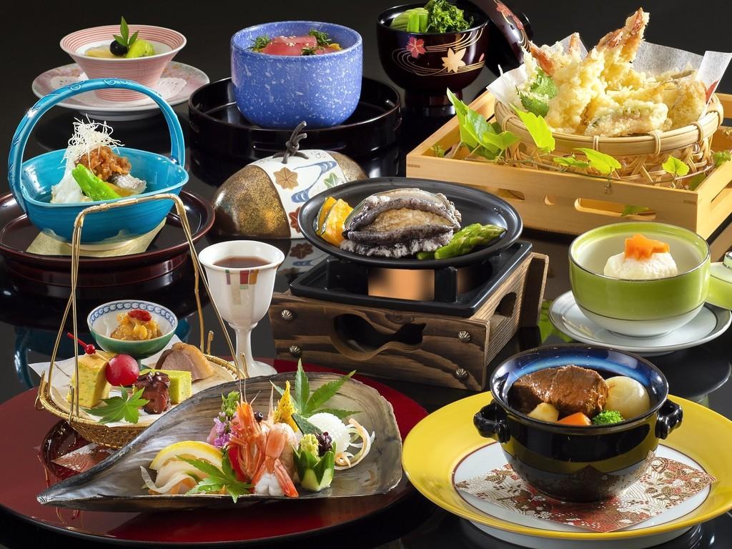 「おまかせ会席」料理イメージ(2019年10月〜2020年3月)※「天婦羅」は4名様盛りのイメージです。