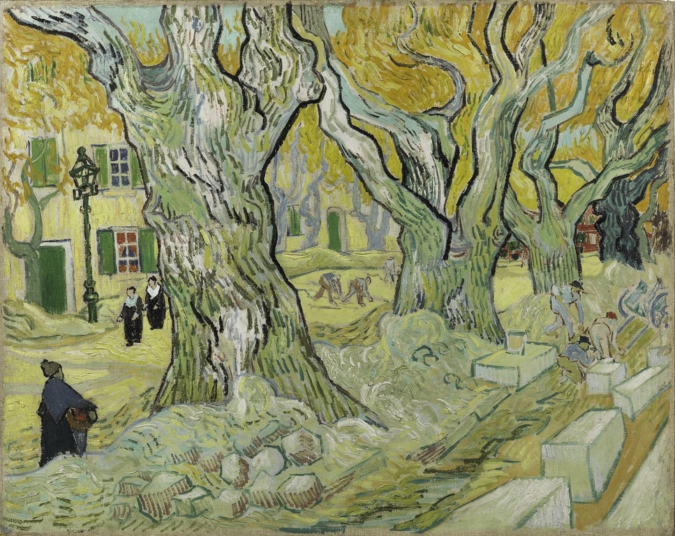 フィンセント・ファン・ゴッホ《道路工夫》1889年 油彩/カンヴァス フィリップス・コレクション蔵  The Phillips Collection