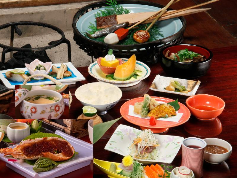 松茸料理も楽しめる、囲炉裏料理