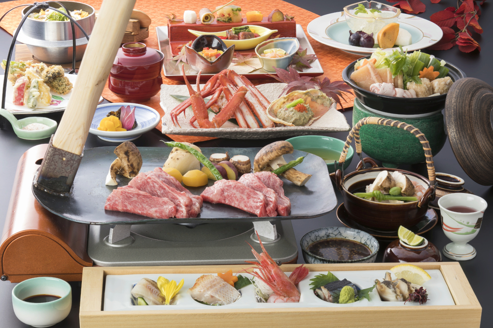 夕食「秋の味覚会席」 イメージ  ※焼き物は2人前です