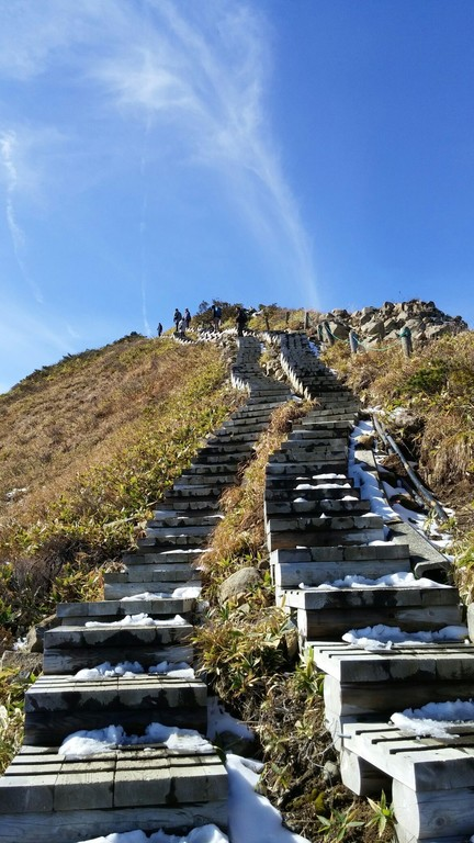 ここはまるで天空への階段