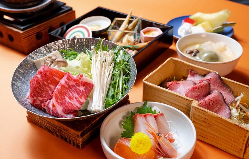 上州牛のすき鍋とローストビーフ(冬の献立)