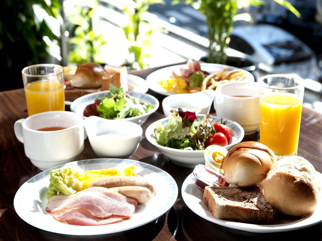 朝食付プラン!洋食のビュッフェスタイル。