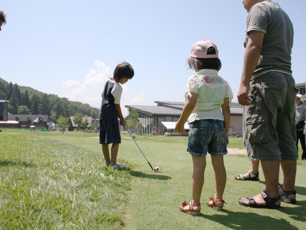 家族みんなでパターゴルフ♪