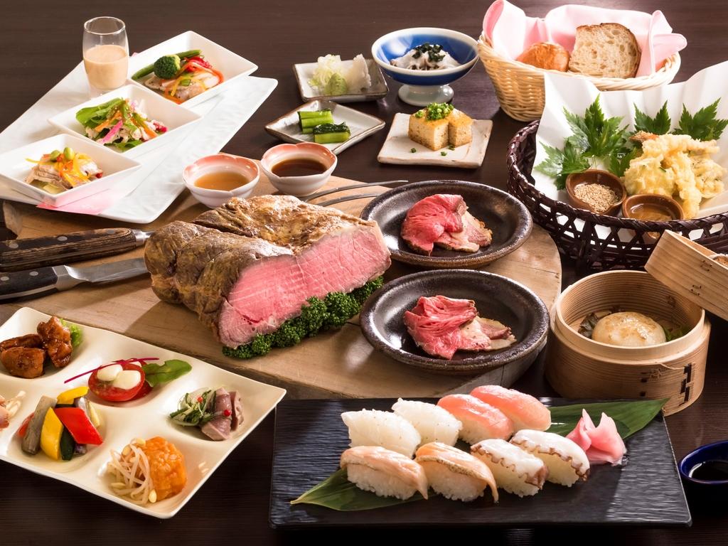 和洋中約40種類の夕食バイキング *イメージ