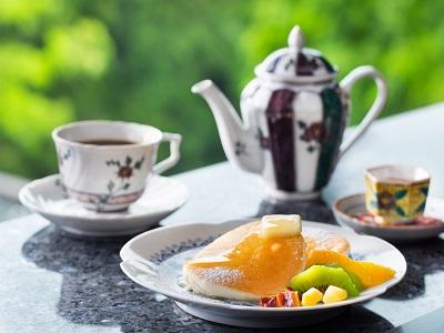早めのチェックインがおすすめ、Afternoon Teaのおもてなし(青竹/14:30~16:00)