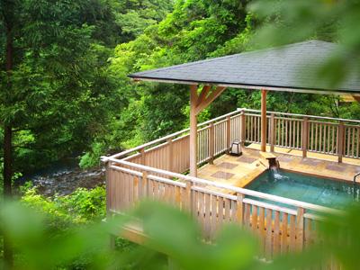 豊かな自然の癒しを感じる「白鷺の湯」。天然温泉&森林浴で、お肌もココロもしっとり