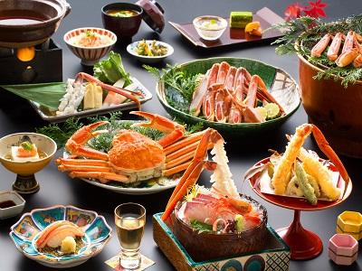 「ズワイ蟹会席」お料理一例