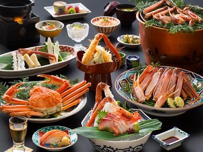 「彩」にて、ズワイ蟹会席をご堪能下さいませ。