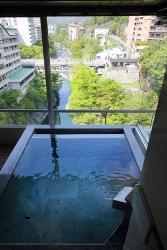 新・展望風呂付特別室「はんなり Bタイプ」展望風呂からの眺め